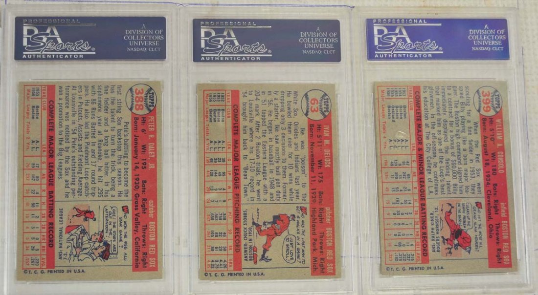 8 1957 Topps Baseball Cards PSA Graded 8 - 2
