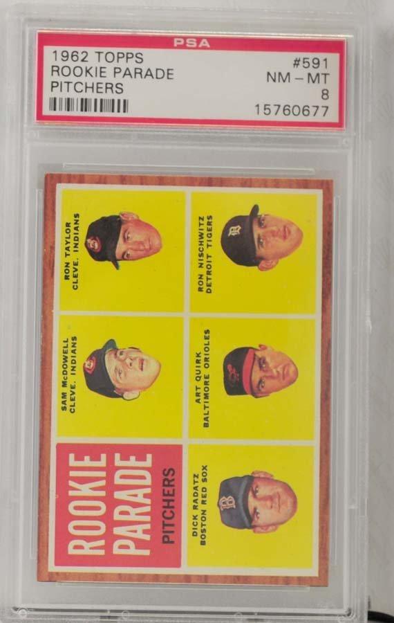 1962 Topps Rookie Parade Pitchers PSA 8