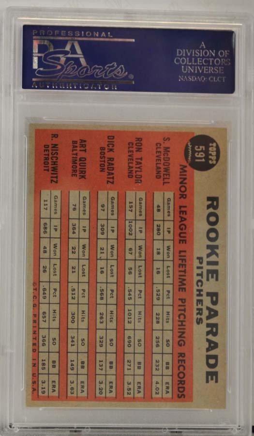 1962 Topps Rookie Parade Pitchers PSA 8 - 2