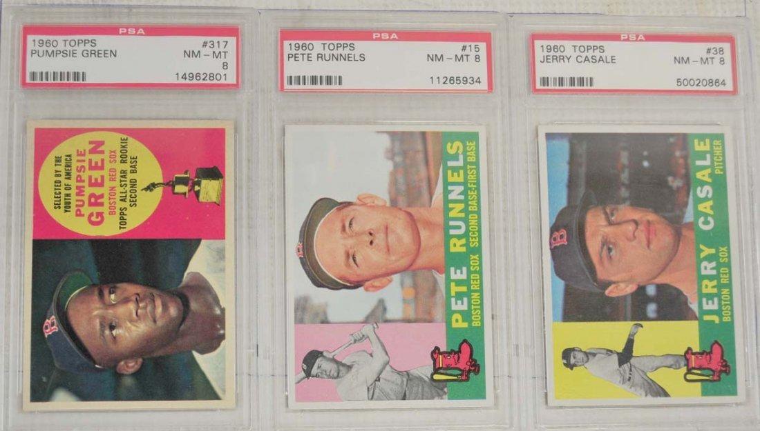 14 1960 Topps PSA 8 Baseball Cards
