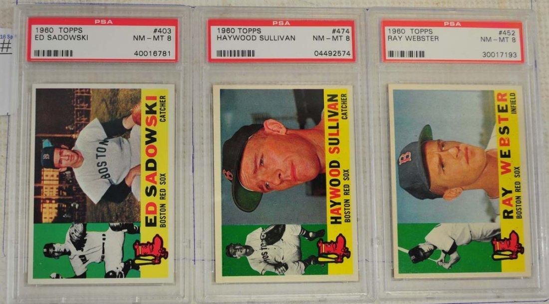 14 1960 Topps PSA 8 Baseball Cards - 7