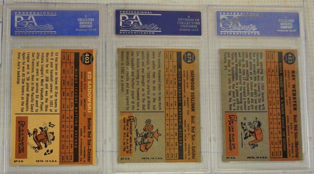 14 1960 Topps PSA 8 Baseball Cards - 8