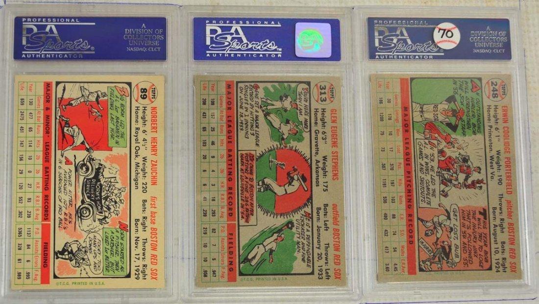 5 1956 Topps Baseball Cards PSA Graded 8 - 2