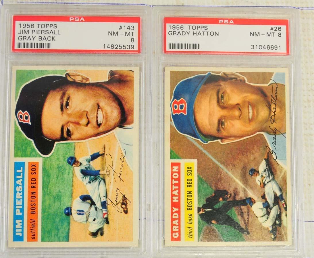 5 1956 Topps Baseball Cards PSA Graded 8 - 3