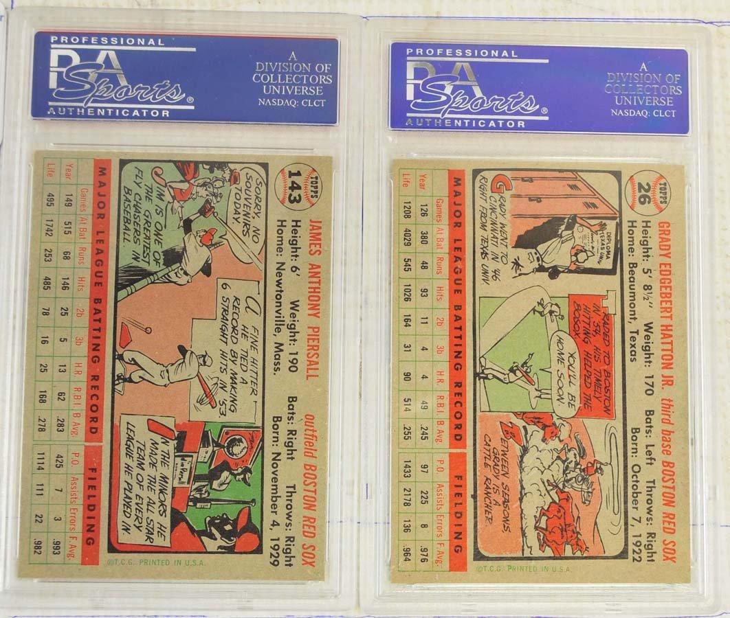 5 1956 Topps Baseball Cards PSA Graded 8 - 4