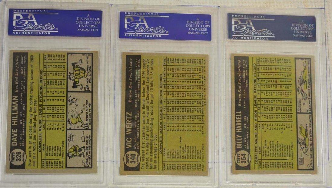 10 1961 Topps Baseball Cards PSA Graded 8 - 2