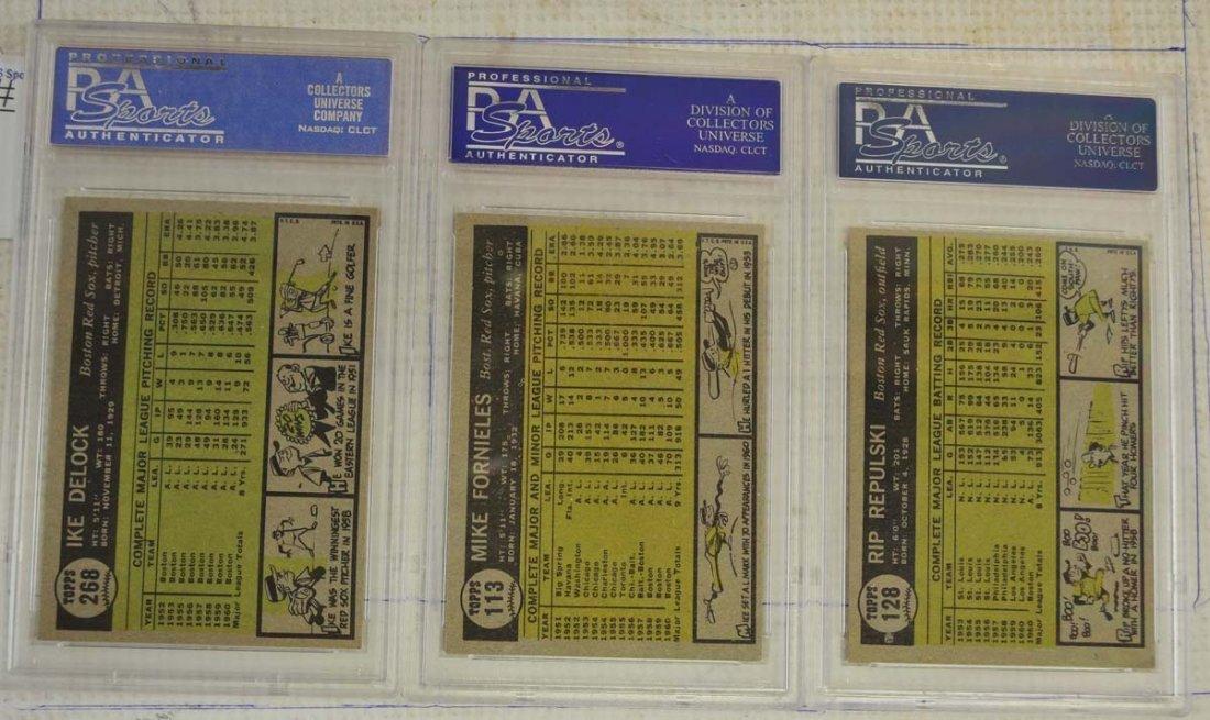10 1961 Topps Baseball Cards PSA Graded 8 - 4