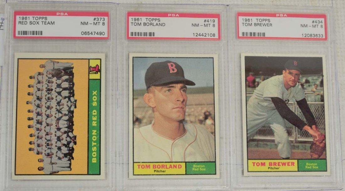 10 1961 Topps Baseball Cards PSA Graded 8 - 5