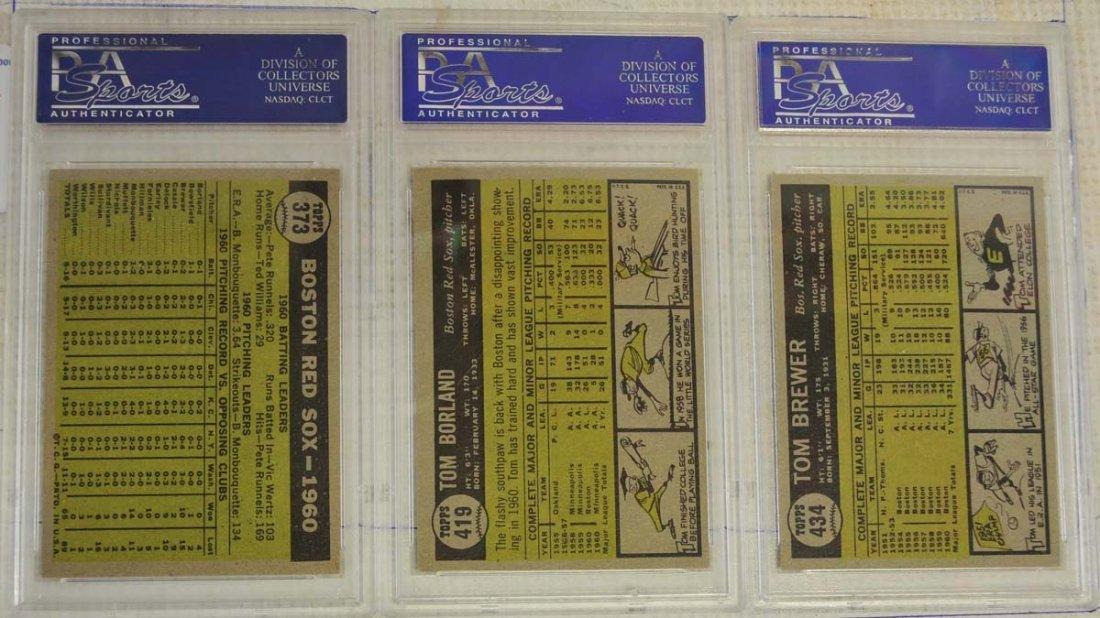 10 1961 Topps Baseball Cards PSA Graded 8 - 6