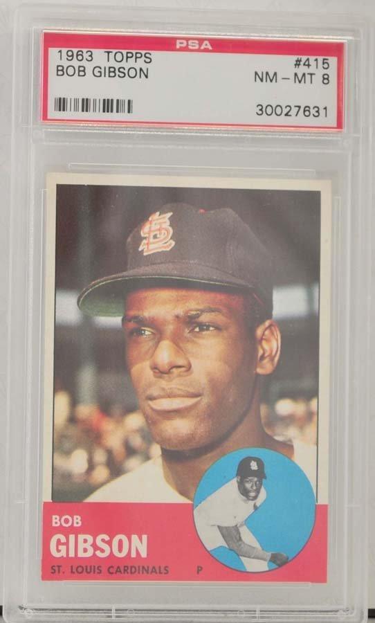 1963 Topps Bob Gibson PSA Graded 8