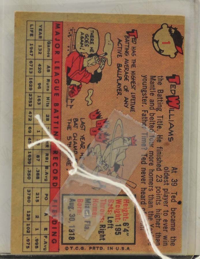1958 Topps Ted Williams Ungraded - 2