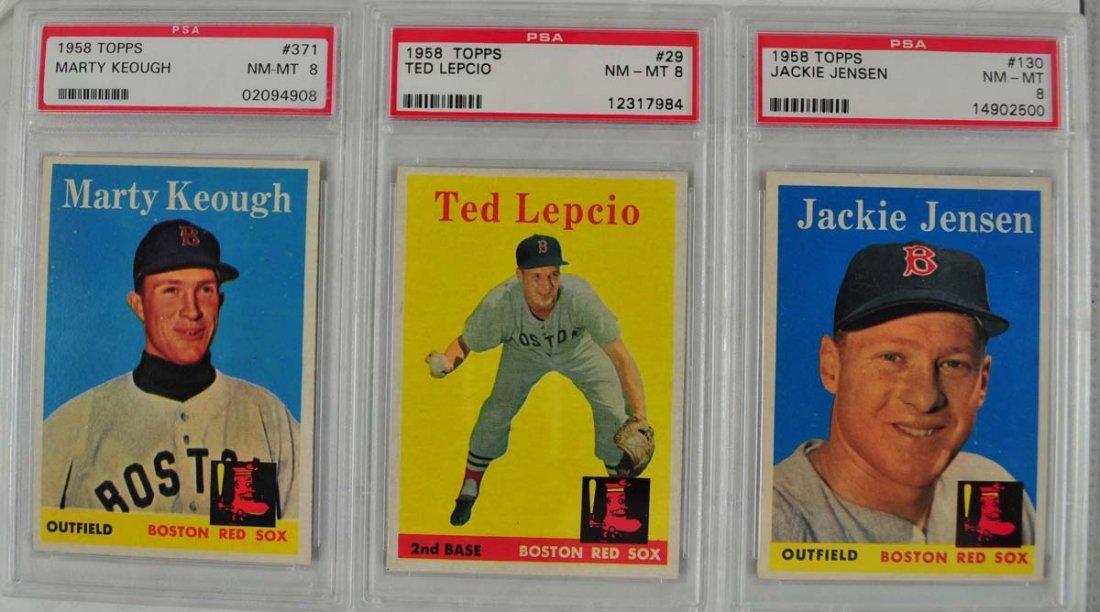 12 1958 Topps baseball Cards PSA Graded 8