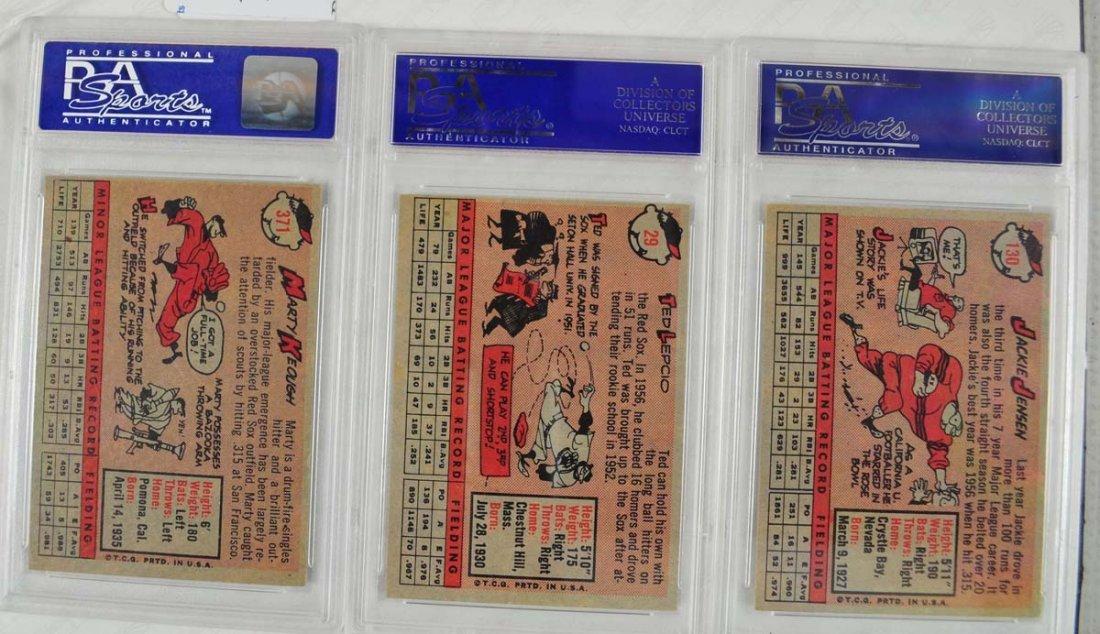 12 1958 Topps baseball Cards PSA Graded 8 - 2