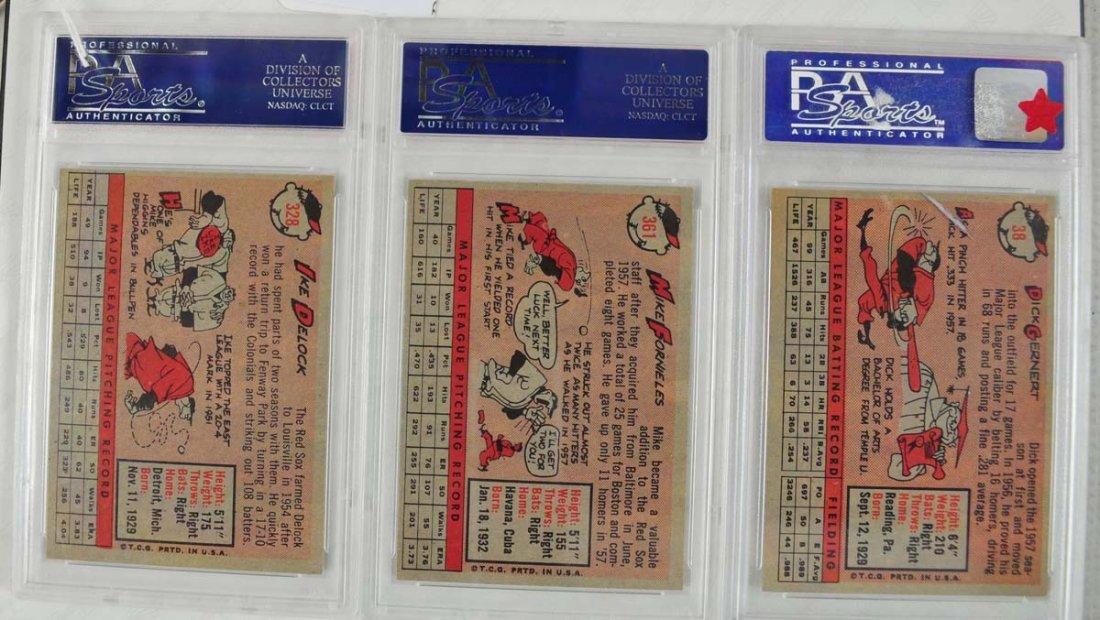 12 1958 Topps baseball Cards PSA Graded 8 - 4