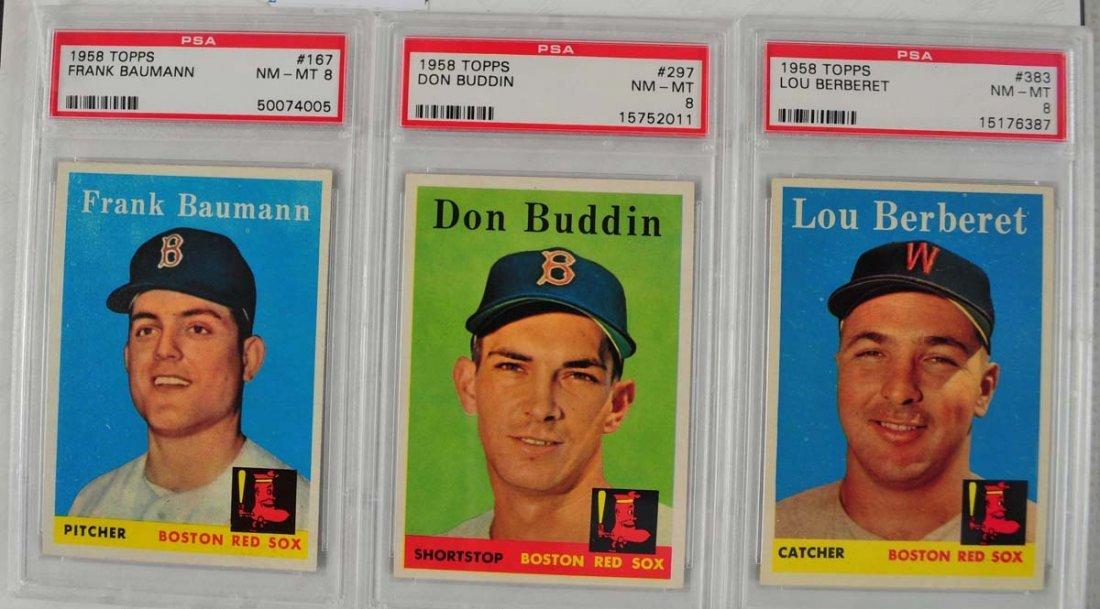 12 1958 Topps baseball Cards PSA Graded 8 - 5