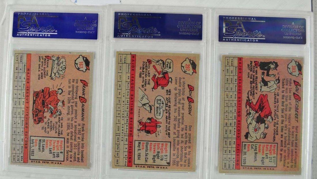 12 1958 Topps baseball Cards PSA Graded 8 - 6