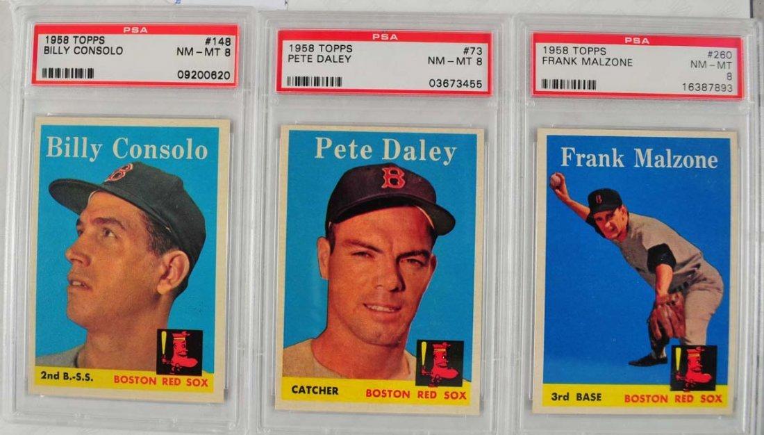 12 1958 Topps baseball Cards PSA Graded 8 - 7