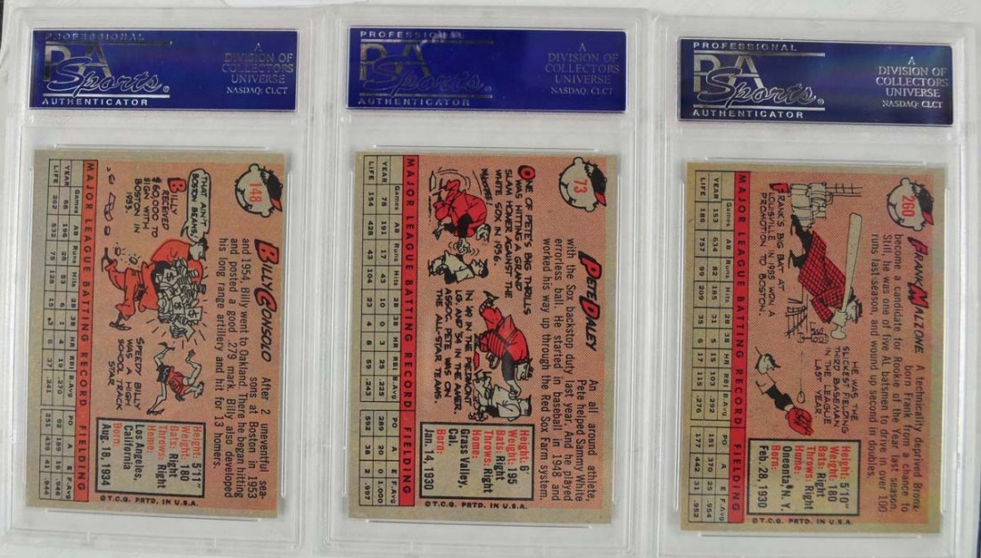12 1958 Topps baseball Cards PSA Graded 8 - 8