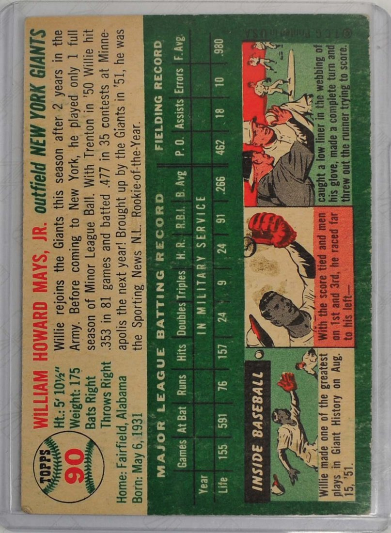 1954 Topps Willie Mays - 2