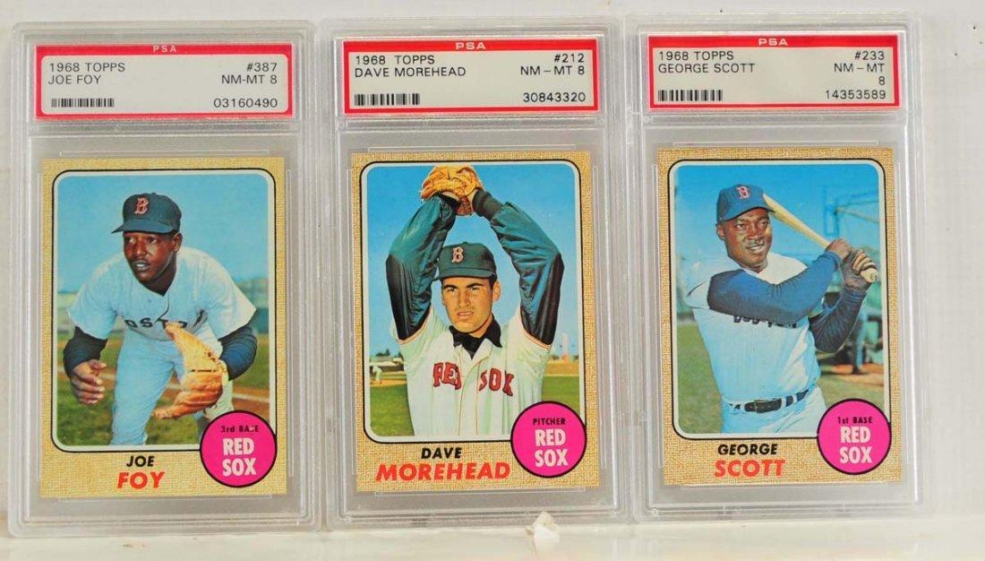 10 1968 Topps PSA 8 Graded Cards