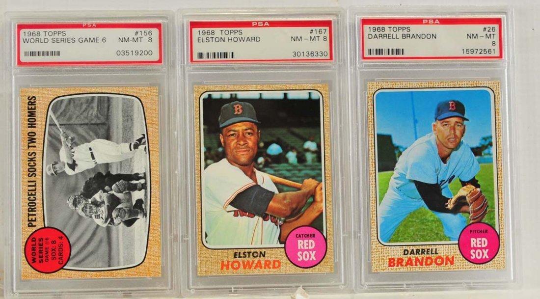 10 1968 Topps PSA 8 Graded Cards - 3
