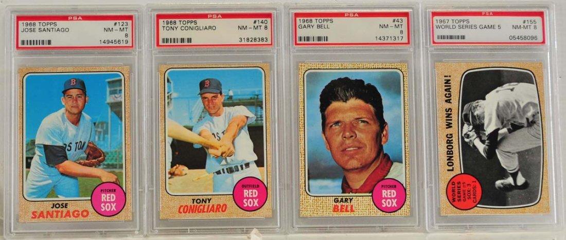 10 1968 Topps PSA 8 Graded Cards - 5
