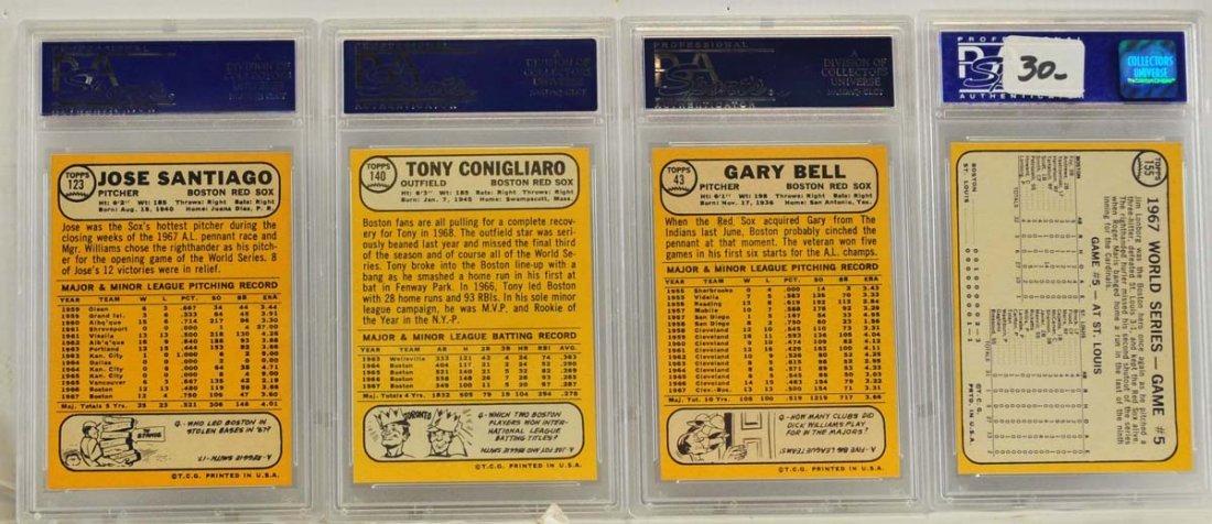 10 1968 Topps PSA 8 Graded Cards - 6