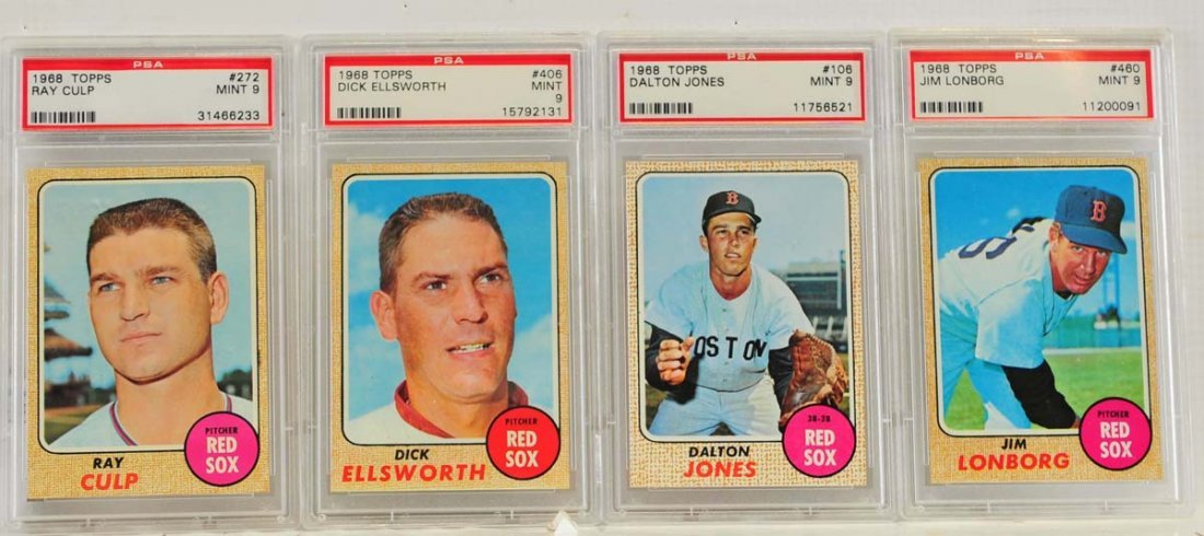 9 1968 Topps PSA 9 Graded Cards
