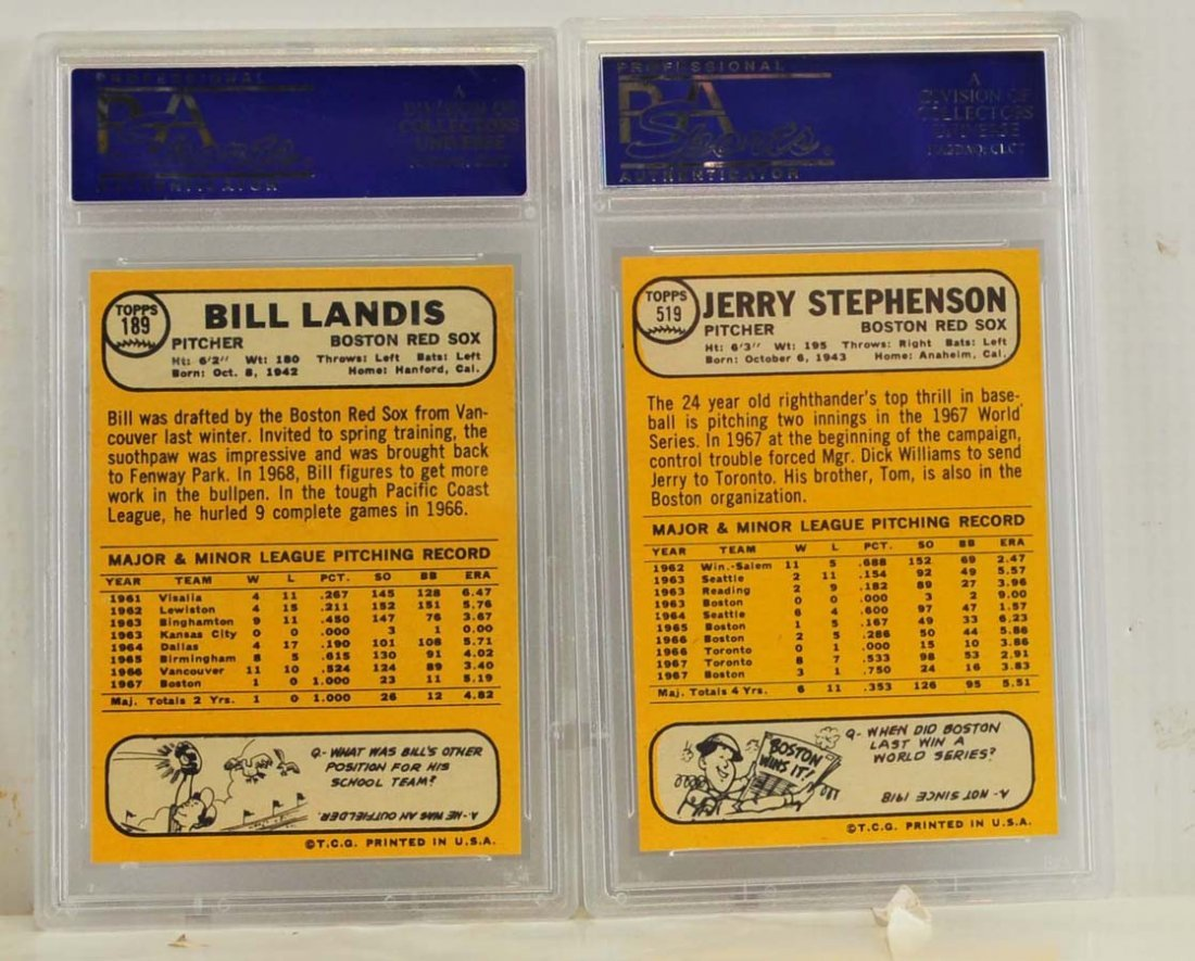 9 1968 Topps PSA 9 Graded Cards - 4