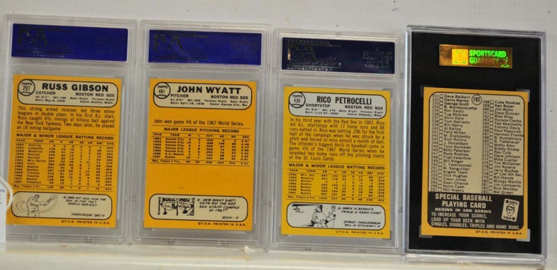 9 1968 Topps Graded Cards PSA 8 and SGC 86 - 2