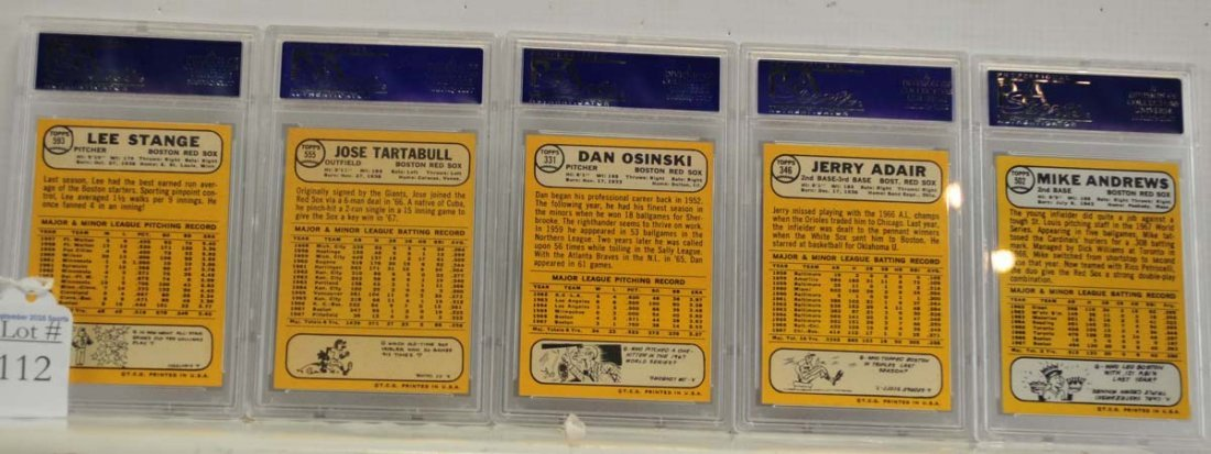 9 1968 Topps Graded Cards PSA 8 and SGC 86 - 4