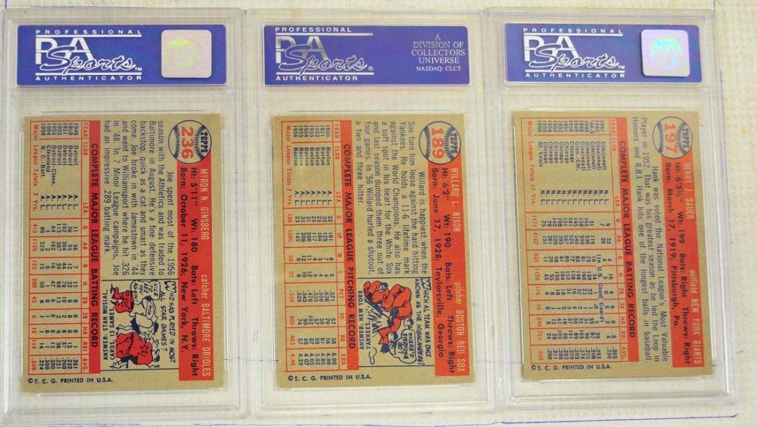 8 1957 Topps Baseball Cards PSA Graded 8 - 2