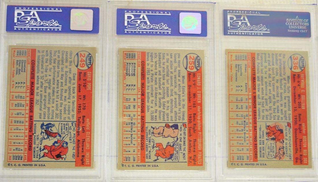 8 1957 Topps Baseball Cards PSA Graded 8 - 4