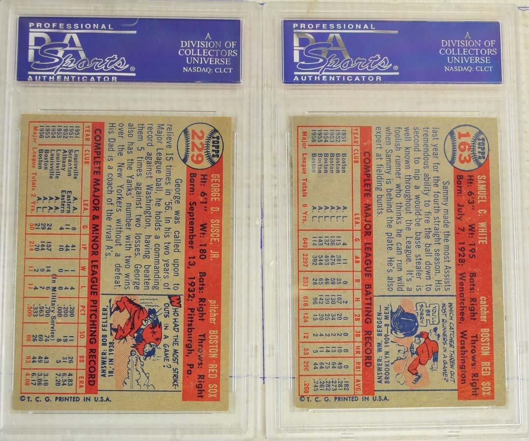 8 1957 Topps Baseball Cards PSA Graded 8 - 6