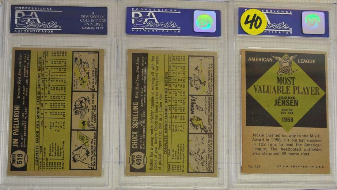 10 1961 Topps Baseball Cards PSA Graded 8 - 6