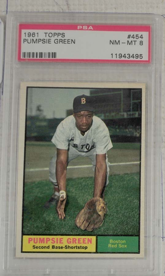 10 1961 Topps Baseball Cards PSA Graded 8 - 7