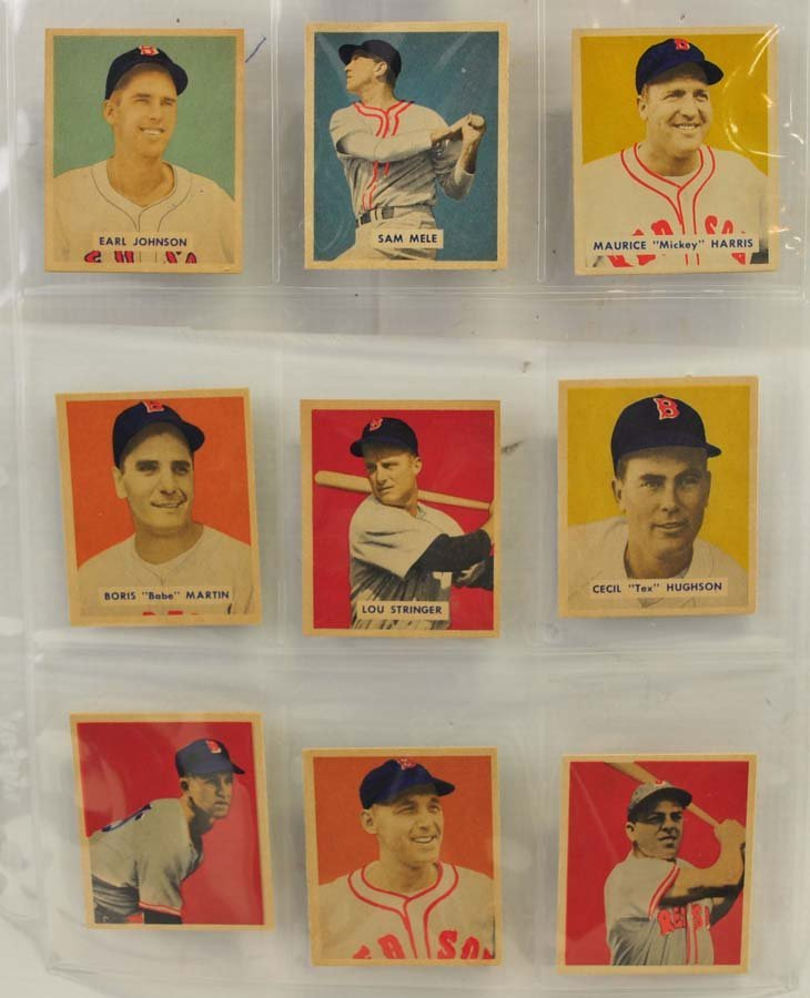 21 1949 and 1950 Bowman Red Sox Cards