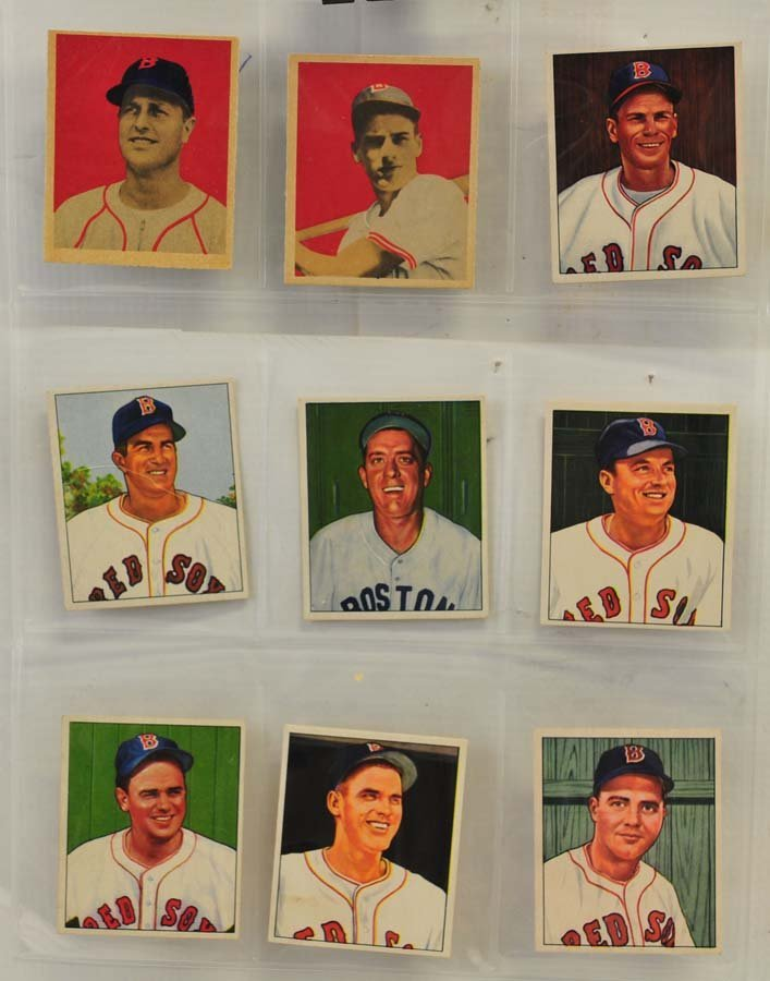 21 1949 and 1950 Bowman Red Sox Cards - 3