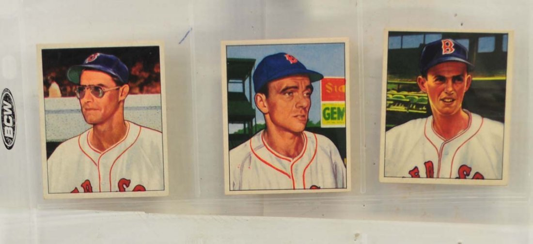 21 1949 and 1950 Bowman Red Sox Cards - 5