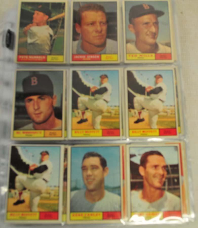 83 1961 Topps Baseball Cards Ungraded