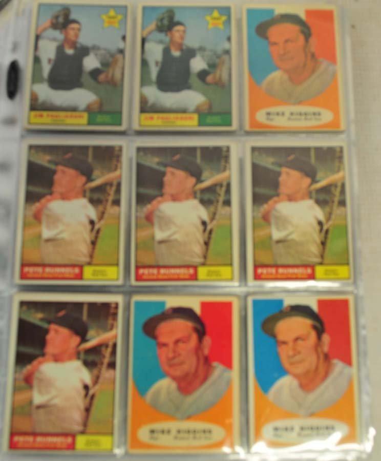 83 1961 Topps Baseball Cards Ungraded - 2