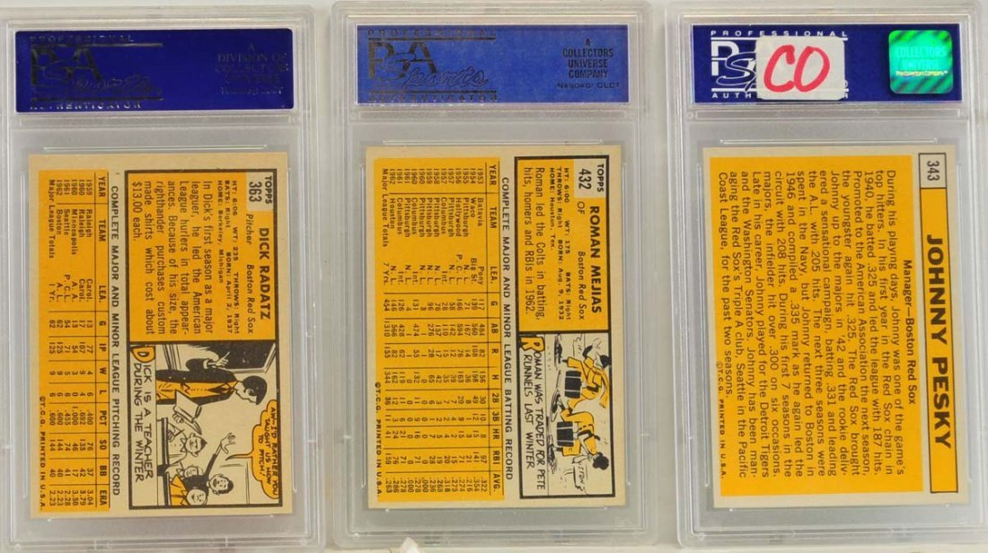 10 1963 Topps PSA 8 Graded Red Sox Cards - 2