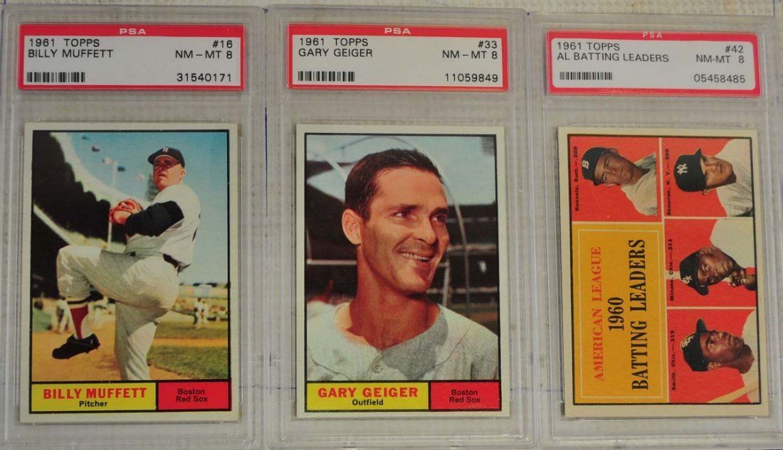 12 1961 Topps Baseball Cards PSA Graded 8/9 - 3