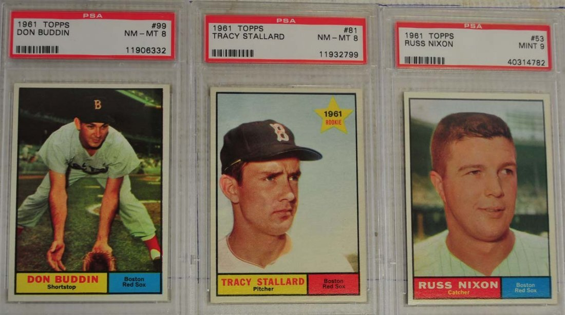 12 1961 Topps Baseball Cards PSA Graded 8/9 - 5