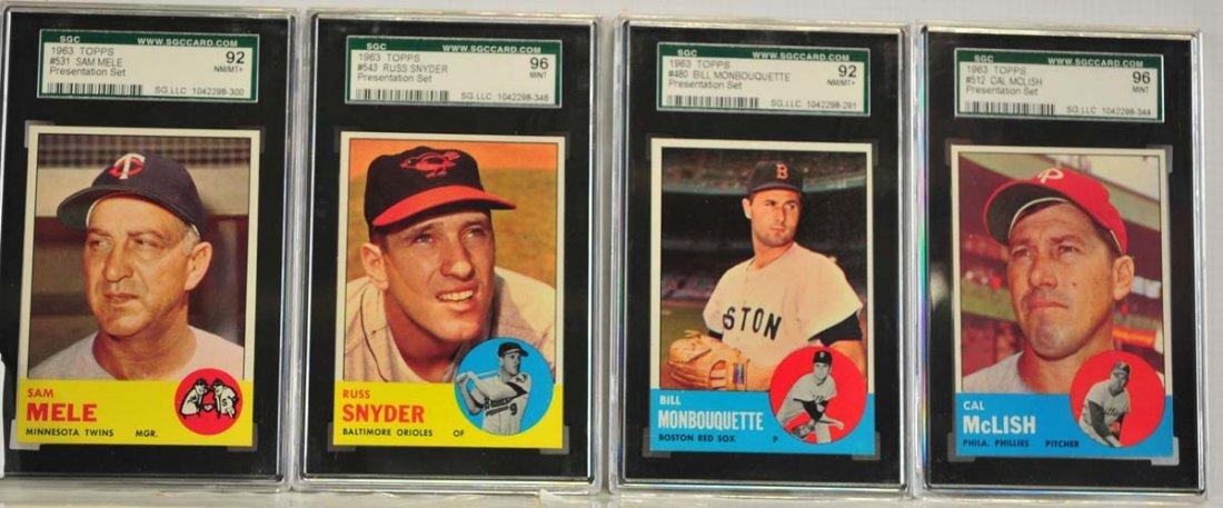 8 1963 Topps SGC Graded Cards