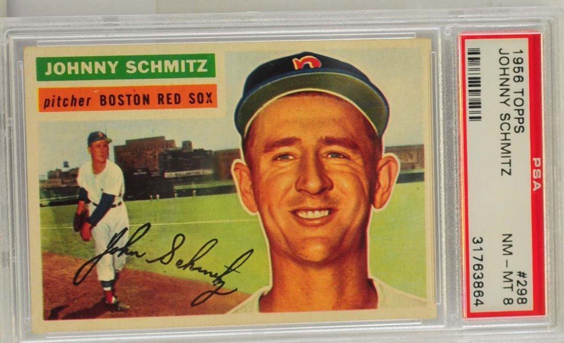 1956 Topps Johnny Schmitz PSA 8