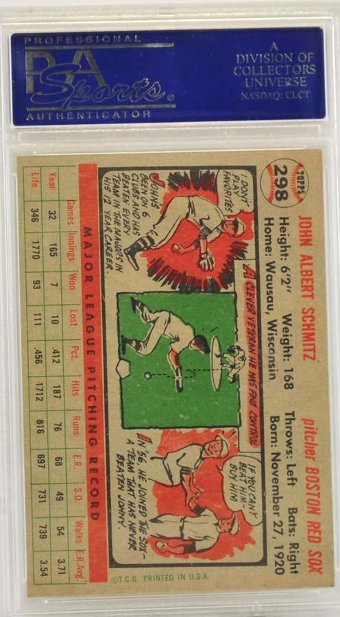 1956 Topps Johnny Schmitz PSA 8 - 2
