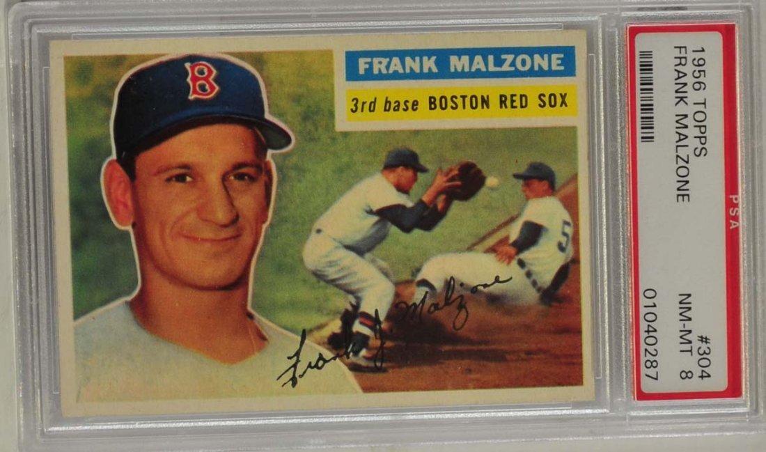1956 Topps Frank Malzone PSA 8