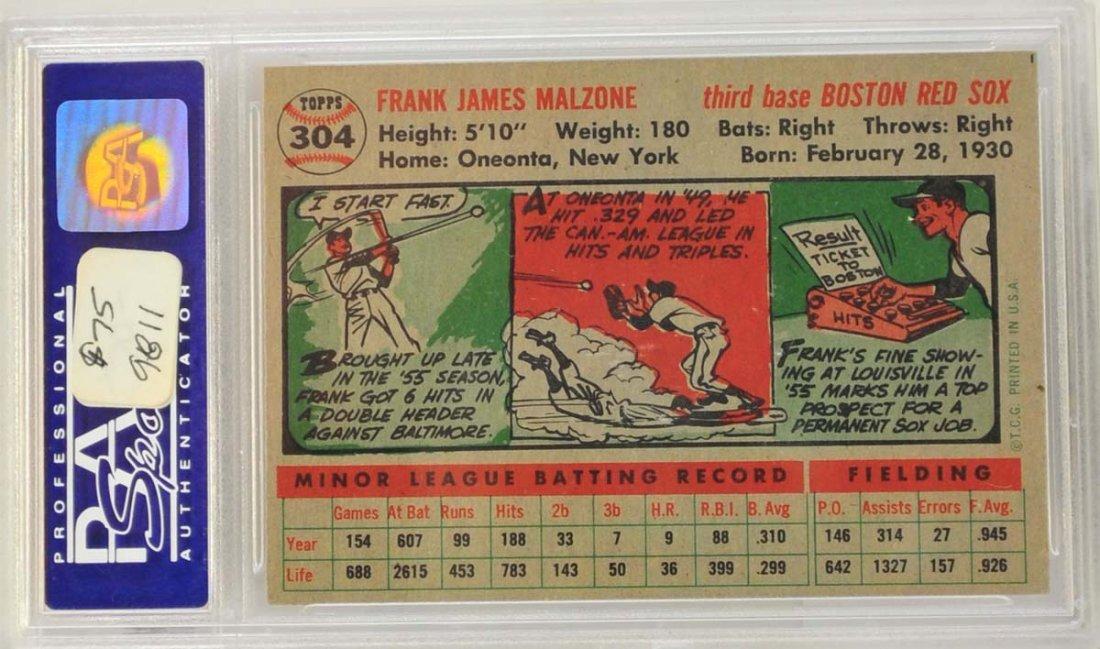 1956 Topps Frank Malzone PSA 8 - 2