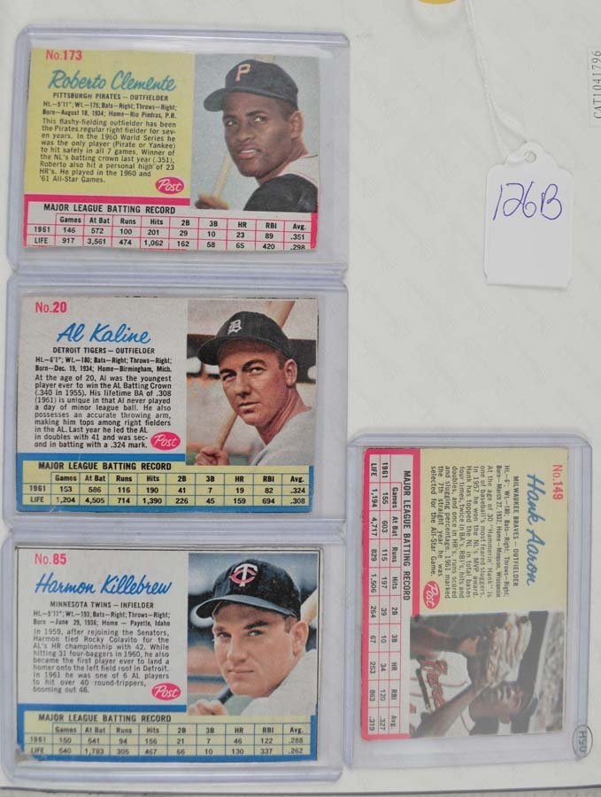 7 1962 Post Cereal Cards - 3